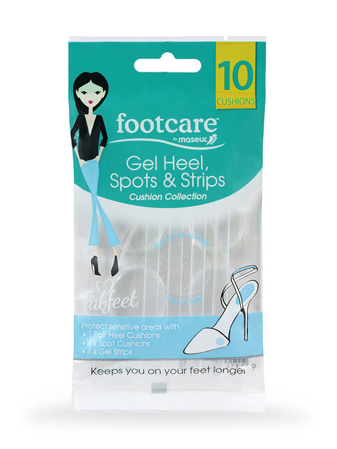 Gel Heel Spots & Stripes, 10 pack