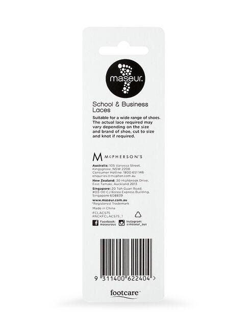 School & Business Laces Black 75cm, 1 pair