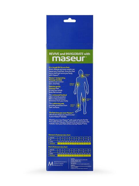 Maseur Invigorating Massage Sandal Black Size 5