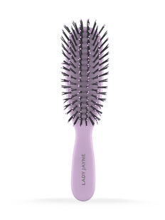 Pastel Purple Smooth & Knotless Detangling Brush - Purse-Sized