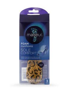 Sole Comfort Foam Cushions, 3 pairs