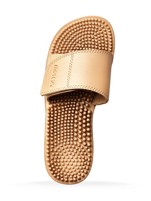 Maseur Invigorating Massage Sandal Beige Size 10