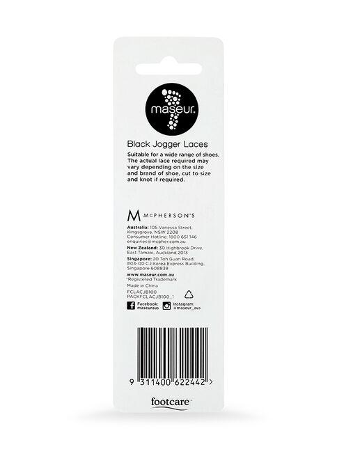 Black Jogger Laces 100cm, 1 pair