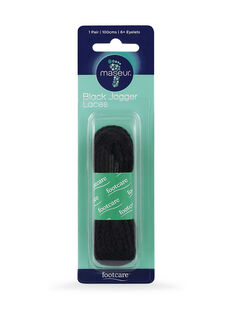 Black Jogger Laces 100cm, 1 pair
