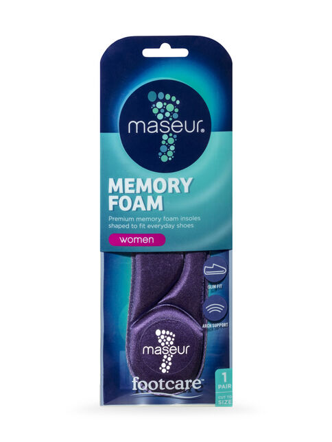 Women's Memory Foam Insoles, 1 pair
