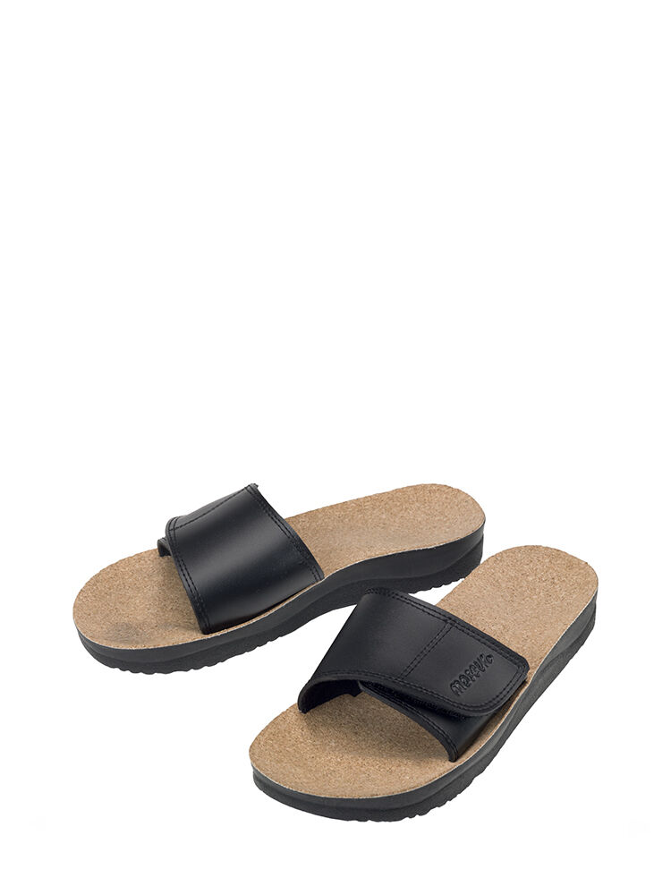 Maseur Massage Sandal Gentle BLACK Size 10 Support for Arches Heels and Toes NEW
